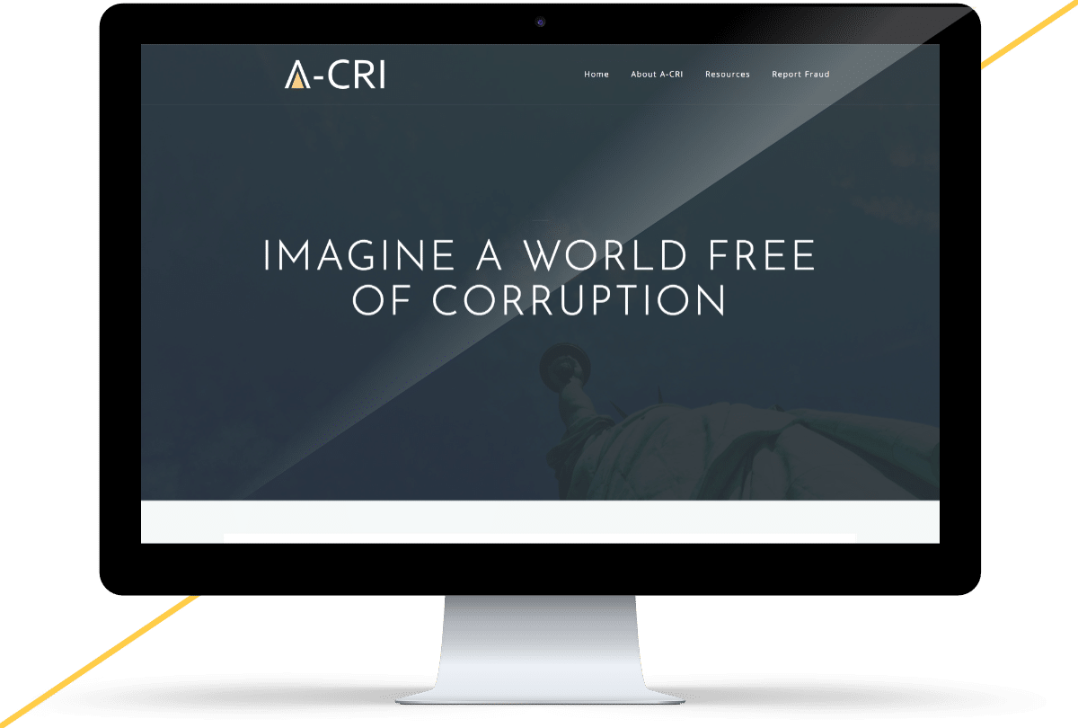 iMac mockup of the A-CRI website