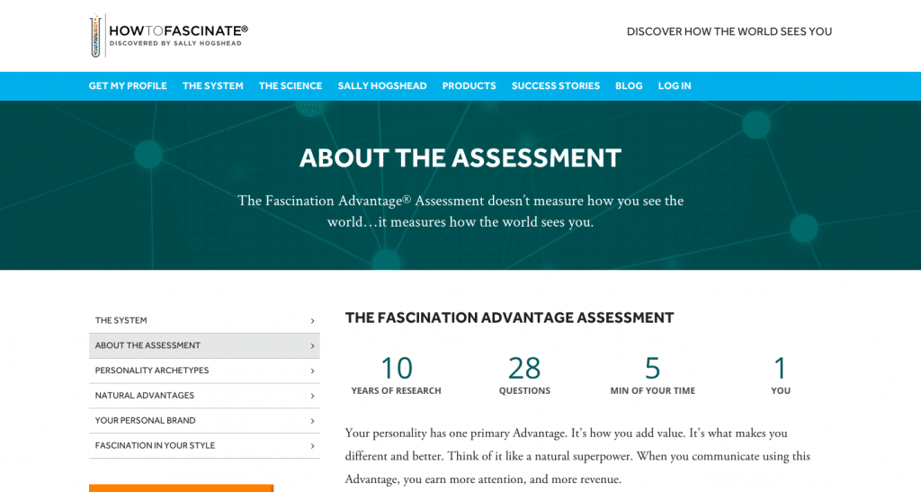 About the Fascination Advantage Assessment