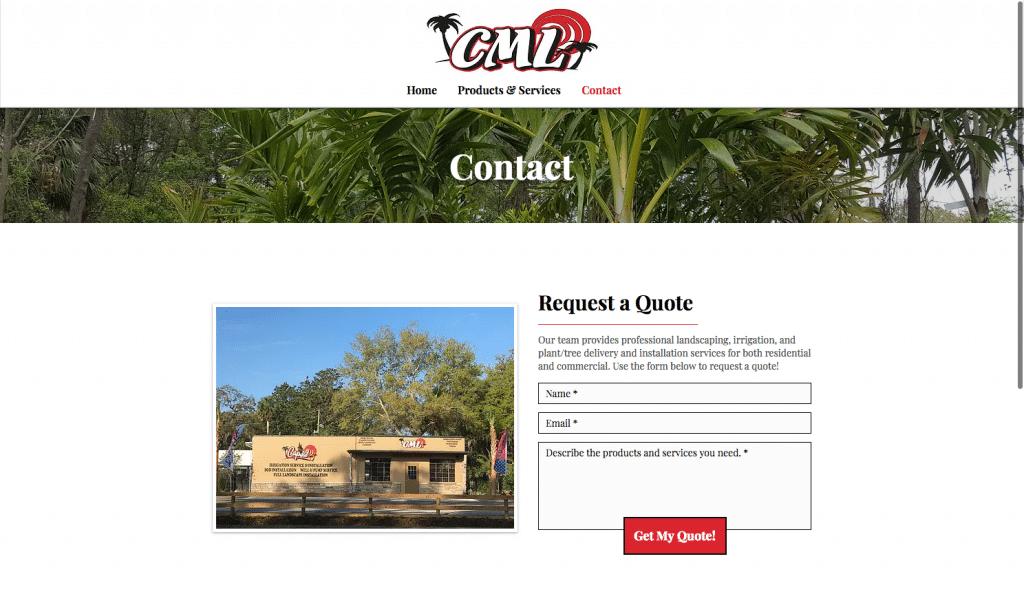 CML Garden Center Contact Page