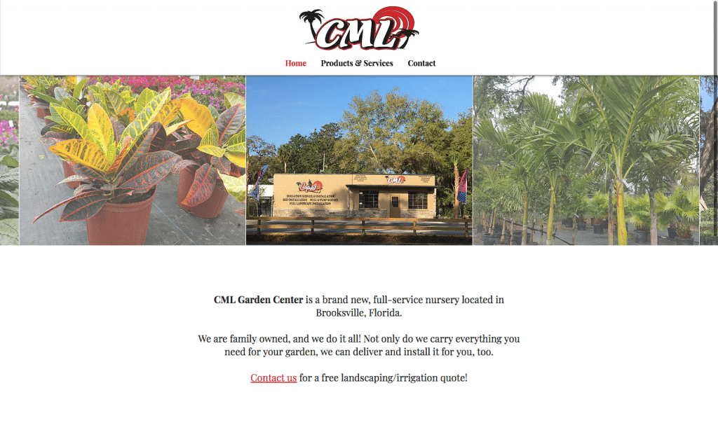 CML Garden Center Home Page