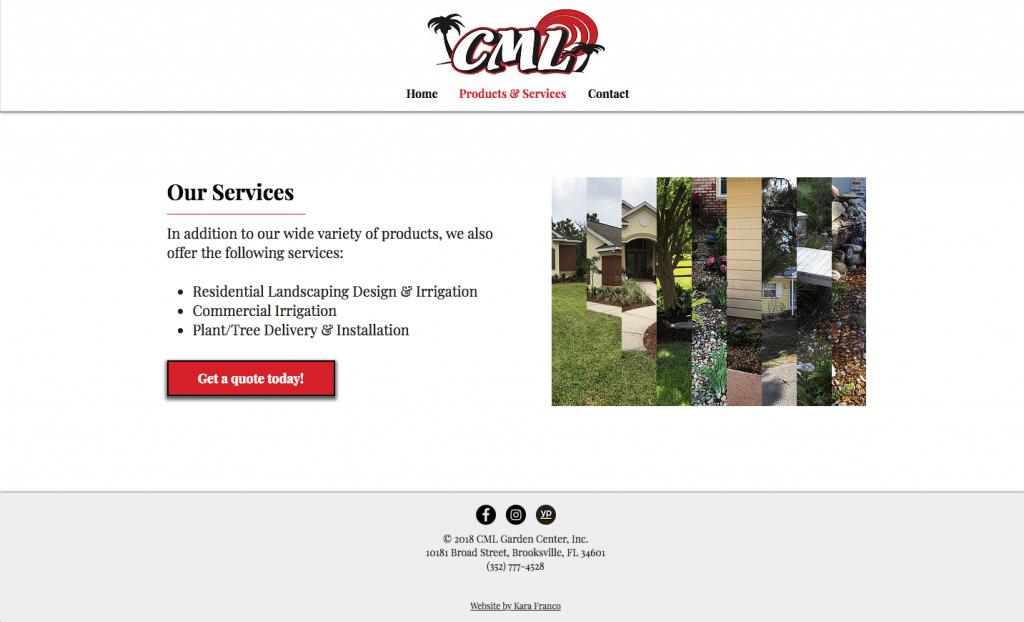 CML Garden Center Services Page