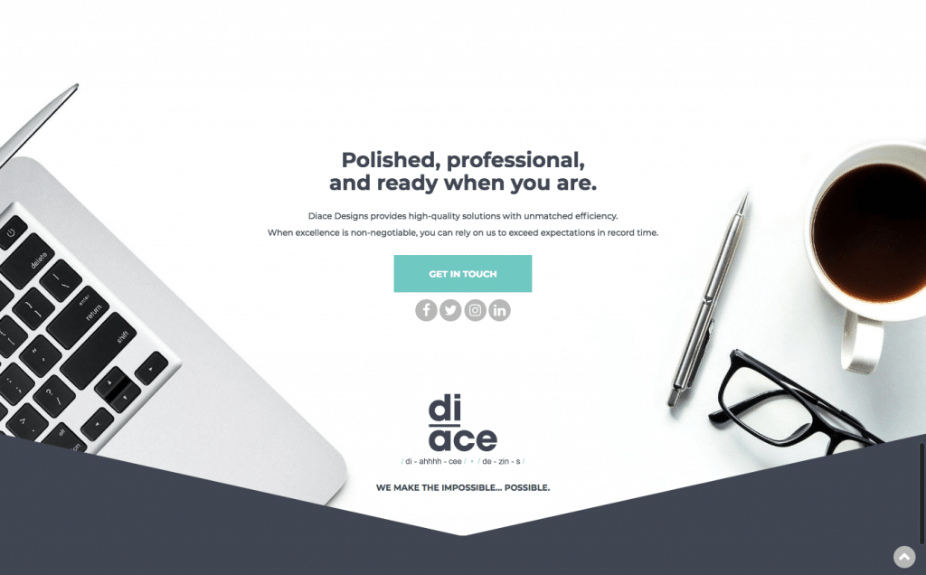 Diace Designs Call to Action
