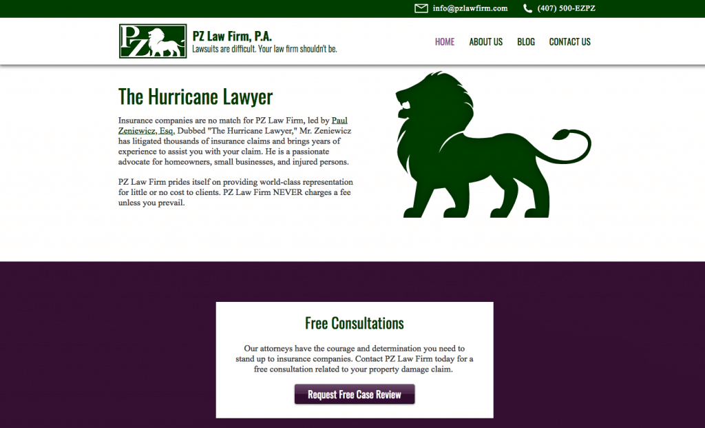 PZ Law Firm Home Page
