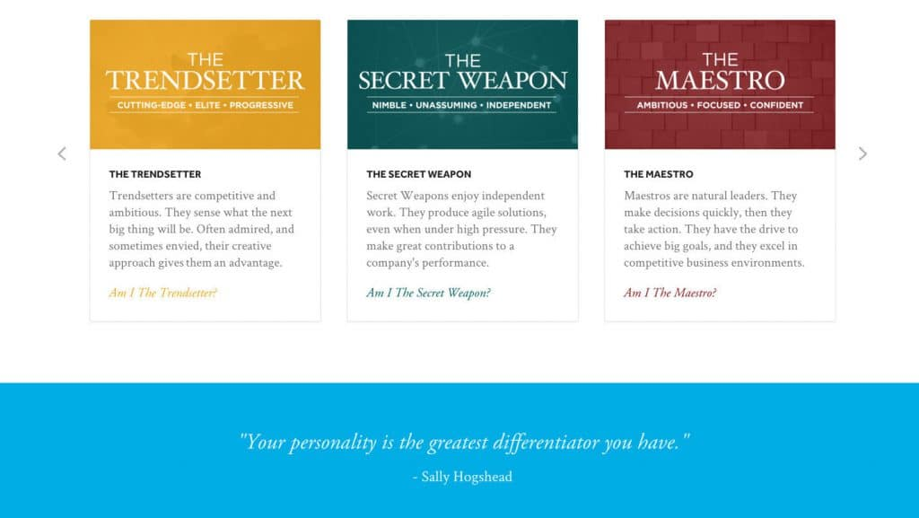 Fascination Personality Archetypes